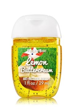 Lemon Body Cream - Limited Edition Size - C. Bigelow Lemon Buttercream - PocketBac Sanitizing Hand Gel - Bath & Body Works - Now with more happy! Our NEW PocketBac is perfectly shaped for pockets & purses, making it easy to kill of germs when you'r Bath Body Works, Bath N Body, Bath And Body Works Perfume, Vitamin E, Lemon Buttercream, Victoria Secret Fragrances, Bath And Bodyworks, Body Spray, Smell Good
