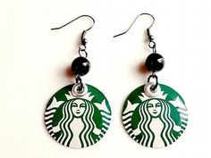 Teen Girl Jewelry Starbucks Jewelry Teen Girl Gift Earrings Recycled Soda Can