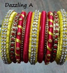 Dazzling Handmade Fancy Bangles Designs 2016-17 for girls