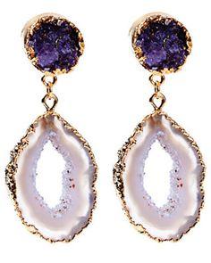 FLARE pick: Dara Ettinger multi-toned purple jewel earrings, $225, shopbop.com.