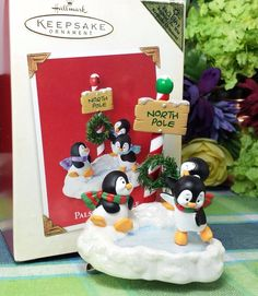 Hallmark Pals at the Pole ornament Penguins Playing 2003 ornament colorway