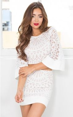 Sunrise Two Piece Set in White Lace