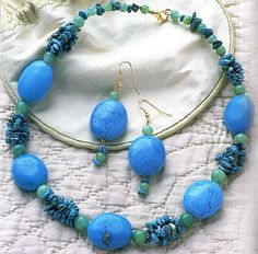 Beauty has the power and the gift to make peace in the heart. - Master-class on making necklaces with turquoise!