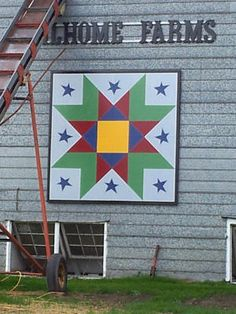 Prince Edward County Barn Quilt Trail | Ontario Barn Quilt Trails Barn Quilt Designs, Barn Quilt Patterns, Quilting Designs, American Quilt, American Barn, Pallet Crafts, Wood Crafts, Painted Barn Quilts, Barn Signs