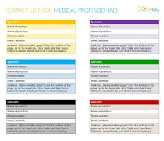 professionals contact list template word templates emergency microsoft