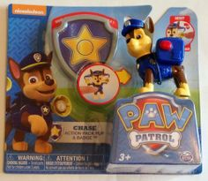 Paw Patrol Action Pack Pup Badge Chase Police Dog Policeman Bullhorn Figure