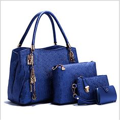 Lightinthebox.com,Women PU Shopper Tote - White / Blue / Gold / Black #04801466, $19.99