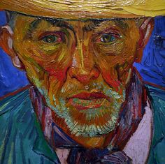 Image: 'Van Gogh, Portrait of a Peasant (Patience Escalier) detail', found on flickrcc.net