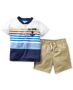 Carter's Baby Boys' 2-Piece Striped Shirt & Shorts Set
