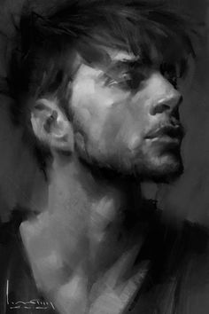 Male Head Study by Lin Ran