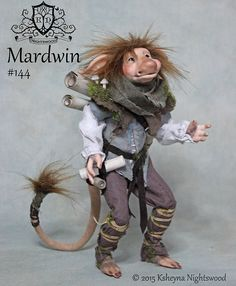OOAK Troll Art Doll  Mardwin by Ksheyna Nightswood by nightswood