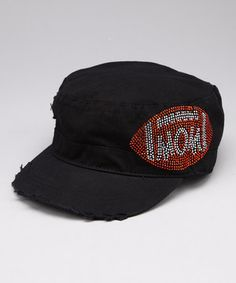 ee858d53a41 Black  amp  Crystal Football  Mom  Baseball Cap by Rhinestone Junkie   zulily