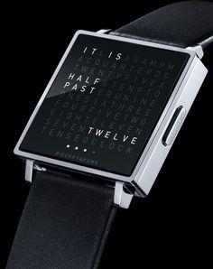 "BIEGERT & FUNK - QLOCKTWO W Watch - ""Time Telling In Words"""