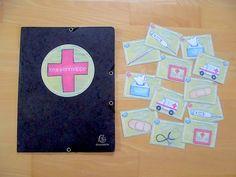 materialwiese: Krankenmappe für kranke Kinder und Gute-Besserung-Kärtchen