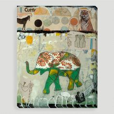 One of my favorite discoveries at WorldMarket.com: 'Elephant Pattern' by Judy Paul
