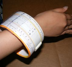 Wearable Slide Rule Bangle Bracelet! Cool DUY Christmas gifts!
