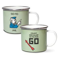 Monopoly mugs help you commemorate all the family ties that were shattered after you lost Boardwalk in an attempt to pay your debts.