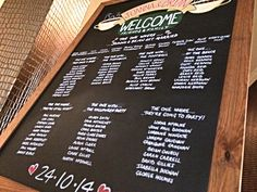 Central Perk themed table plan by Made Marvellous