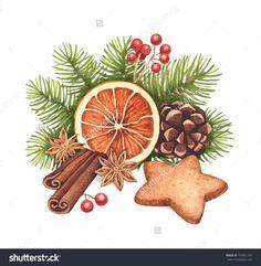 christmas watercolor: 22 тыс изображений найдено в Яндекс.Картинках