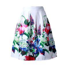 Z&KOZE 2016 Summer Women Vintage Retro Satin Floral Pleated Skirts Audrey Hepburn Style High Waist A-Line tutu Midi Skirt Floral Pleated Skirt, Pleated Skirts, Floral Skirts, Audrey Hepburn, Work Skirts, Rockabilly, Skirt Fashion, Fashion Outfits, Places