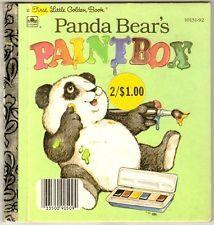 My favorite Golden Book as a kid. PANDA BEAR'S PAINTBOX First Little Golden Book