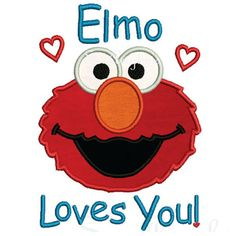 Elmo Loves You Valentines Top for babies by Rocketandroseuk, £13.50