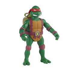 Mutated from ooze and raised in the ways of Ninjutsu by their rat sensei, Splinter, the Teenage Ninja Turtles have risen from their sewer lair to battle evil everywhere.<br><br>Teenage Mutant Ninja Turtles Action Figure - Spittin' Raphael Water-Blasting Turtle! When the battle action starts getting hot, Raph is on the spot to cool down the threat. Give Raph's action backpack a squeeze and he spits out a gush of water and washes away the enemy!<br>Weapons: H2O Spittin' Power and…