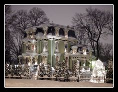 The Silas W.Robbins House - a Second Empire style mansion built in 1873 in Wethersfield-CT. Victorian Architecture, Beautiful Architecture, Beautiful Buildings, Victorian Homes Exterior, Victorian Style Homes, Exterior Homes, Victorian Decor, Classical Architecture, Architecture Design
