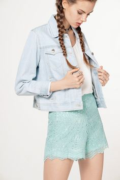 Delavine Denim Jacket in Light Wash | The Closet Lover