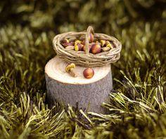 Miniature mushrooms. Dollhouse miniature. by Irinaminiatures