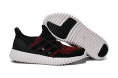 online store f09ed f22b0 nouvelle arrivee Adidas Yeezy Ultra Boost 2016 Primeknit Black Noir Sport  Red White blanc