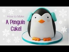 How to Make a Penguin Cake. Learn how to make this adorable Penguin Cake! Hes super easy to make and you can impress your friendsfamily with a super cute cake! This video is part of a Penguin Collaboration, check out all of the videos: PENGUIN Cake Decorating Tutorials, Cookie Decorating, Penguin Cakes, Penguin Party, Fig Cake, Animal Cakes, Cake Youtube, Novelty Cakes, Holiday Cakes
