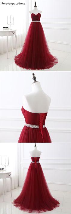 Forevergracedress Elegant Burgundy Evening Dress Vintage Sweetheart Long Tulle Formal Party Gown Plus Size Custom Made