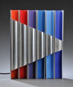 Bengt Karlby; Enameled and Brushed Aluminum 'Panopticon' Wall Light for Lyfa, 1968.
