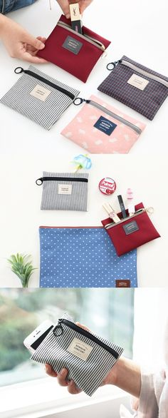 It's small and basic yet super versatile and useful! Carry your small daily essentials in the Small Basic Pouch!