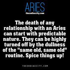 Zodiac Aries facts.