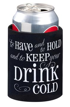 I'm giving away beer cozies at my wedding… I call dibs. I've had this planned for years.