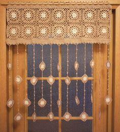 Retro Curtains, Bohemian Curtains, Door Curtains, Doorway Curtain, Colorful Curtains, Crochet Leaves, Crochet Flowers, Flower Curtain, Flowers
