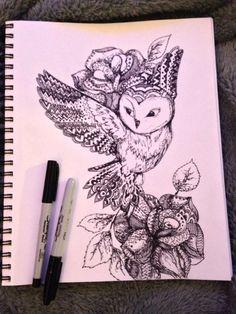 Doodle. Sharpie. By Maryana Kostyuk.