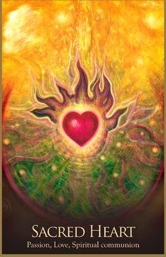 Sacred Heart-Gaia by Toni Carmine Salerno Wicca, Magick, Gaia, Angel Guidance, Oracle Tarot, Spiritus, Angel Cards, Archangel Michael, Card Reading