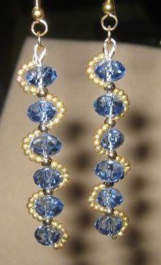 Lovely beaded dangle earrings. Craft ideas from LC.Pandahall.com