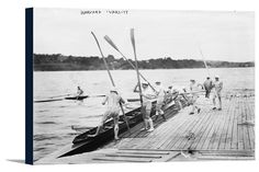 Canvas (Harvard University Rowing Crew Team - Vintage Photograph)