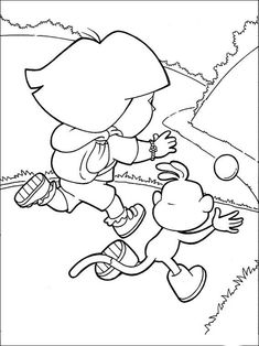 Dora Ausmalbilder #dora #kinder #cartoon #disney