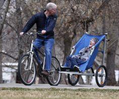 Special Needs Bike Trailer Jogging Stroller With Ski