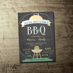 co-ed BBQ baby shower invitation, boys or girls baby shower barbeque, High quality digital printable file by IndigoAndOrion on Etsy https://www.etsy.com/listing/234184804/co-ed-bbq-baby-shower-invitation-boys-or