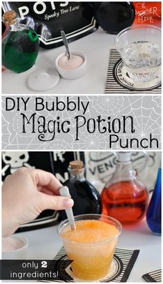 2 Ingredient Bubbly Magic Potion Punch - let the kids mix up their own magic!
