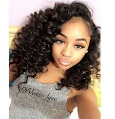 curly hair weaves on sale at reasonable prices, buy Malaysian Curly Hair 3 Bundles Deep Wave Malaysian Virgin Hair Human Hair Extension Virgin Malaysian Loose Curly Hair Weave from mobile site on Aliexpress Now! Loose Curly Hair, Curly Hair With Bangs, Curly Hair Styles, Natural Hair Styles, Deep Curly, Curly Weave Hairstyles, Hairstyles With Bangs, Straight Hairstyles, Protective Hairstyles