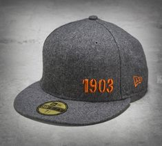 Catch a glance or two when you sport the 1903 59FIFTY Baseball Cap. It features a truly unique fabrication –– wool and viscose. Simple graphics on the flat brim style play out for a men's baseball hat that's part tradition and part urban original. | Harley-Davidson Men's 1903 59FIFTY® Baseball Cap