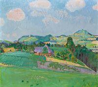 """Cuno Amiet """"Landschaft bei Oschwand"""""""