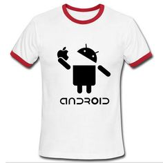 Harajuku men brand tshirt Android Robot Male t-shi Price: $18.09 Buy From AliExpress:http://5.gp/ntBk